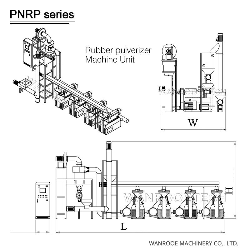 Rubber pulverizer machine, Tire pulverizer, Rubber powder grinder,Rubber mill,Waste tire rubber pulverizer