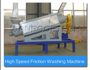High speed frictio washer of PET bottle washing line