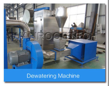 Dewatering machine of PET bottle washing line