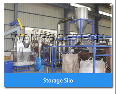 Storage silo of PET bottle washing line
